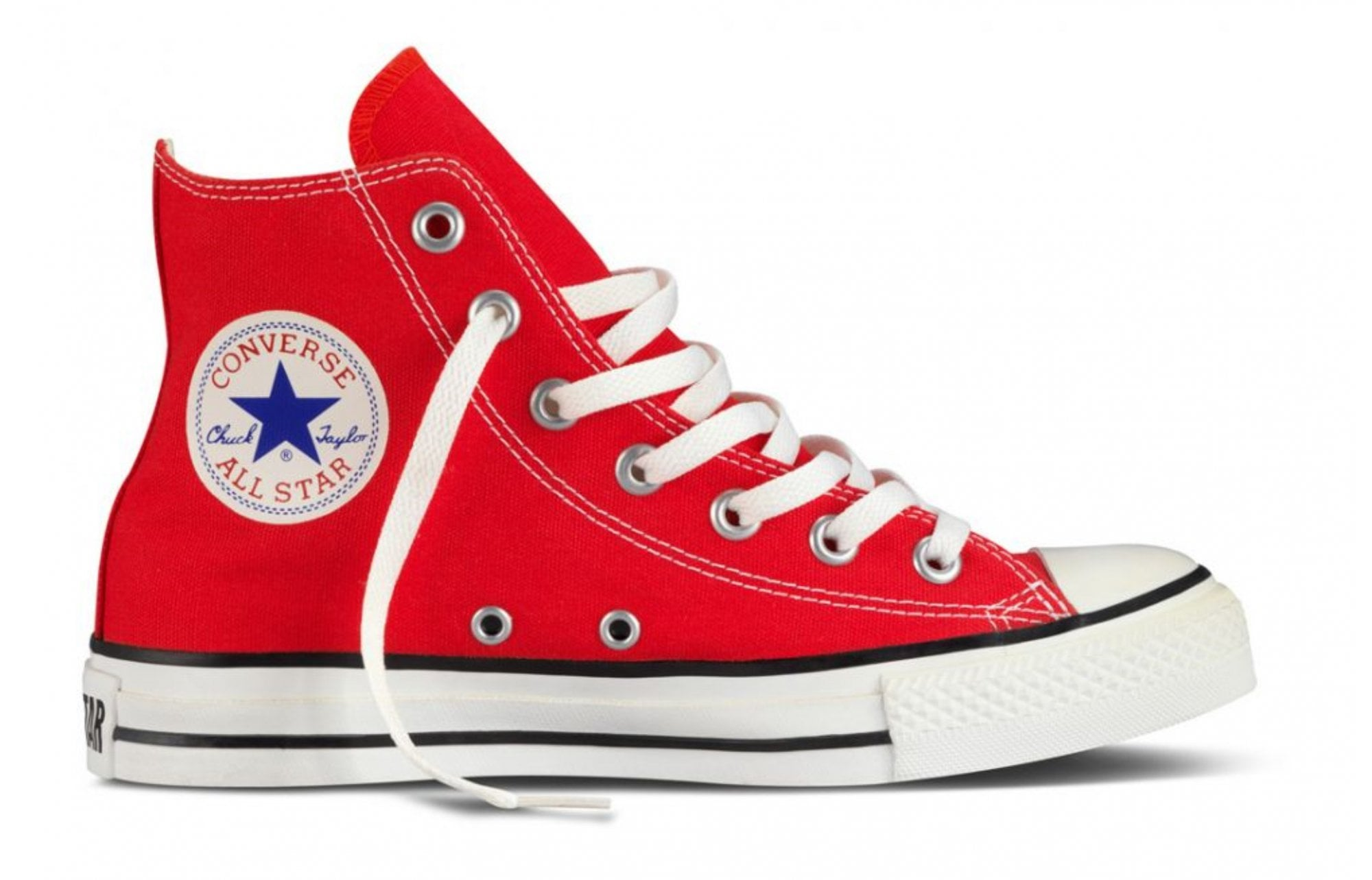 Star Core Youth High Tops - Red