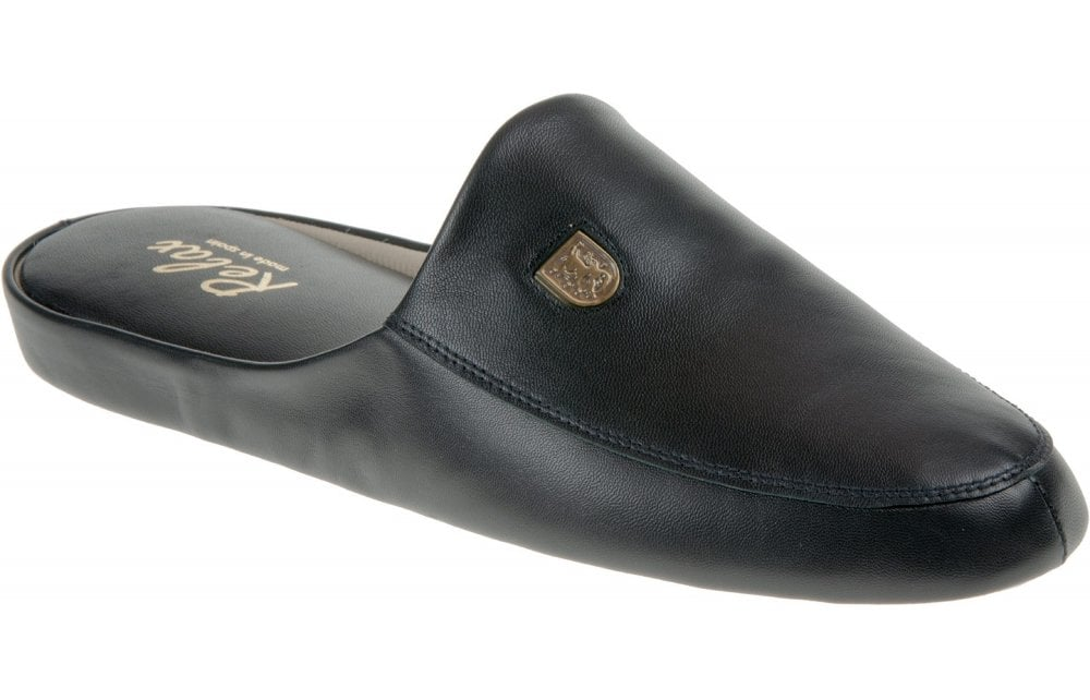 RELAX Relax Williams 3174 Mens Slippers - Black - Men from Johnsons Shoes UK